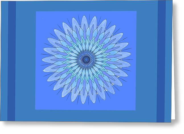 Blue Star By Jammer Greeting Card