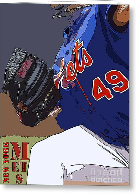 New York Mets Baseball Team And New Typography Greeting Card