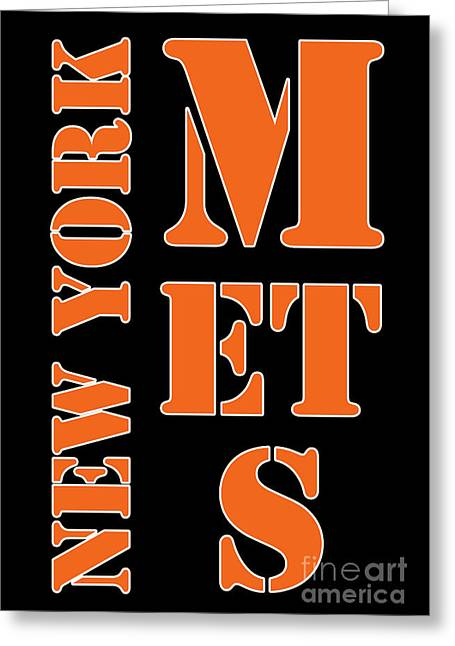 New York Mets Typography Greeting Card