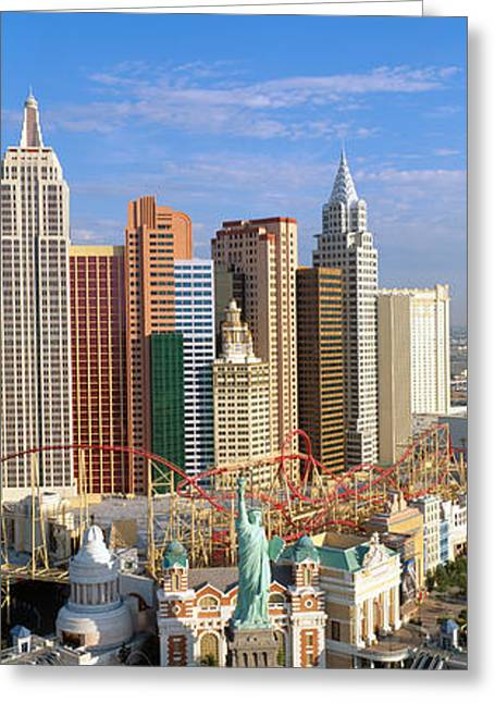 New York, New York Casino, Las Vegas Greeting Card by Panoramic Images