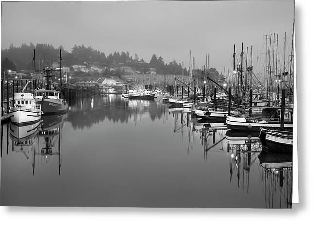 Newport Fishing Boats Greeting Card by Jon Glaser