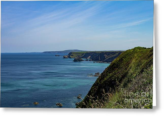 Greeting Card featuring the photograph North Coast Cornwall by Brian Roscorla