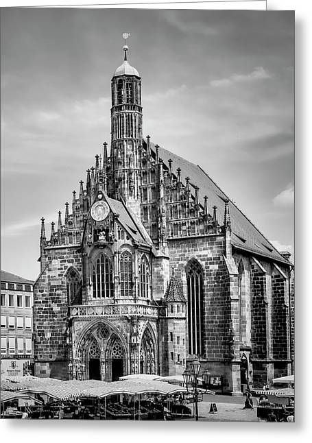 Nuremberg Church Of Our Lady And Main Market Greeting Card by Melanie Viola
