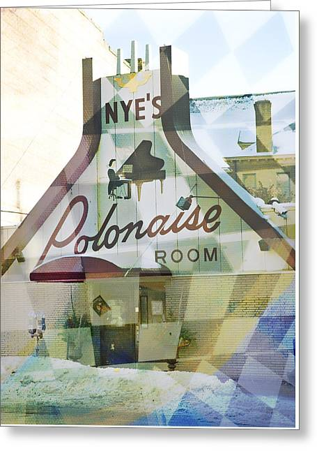 Nye's Polonaise Room Greeting Card by Susan Stone