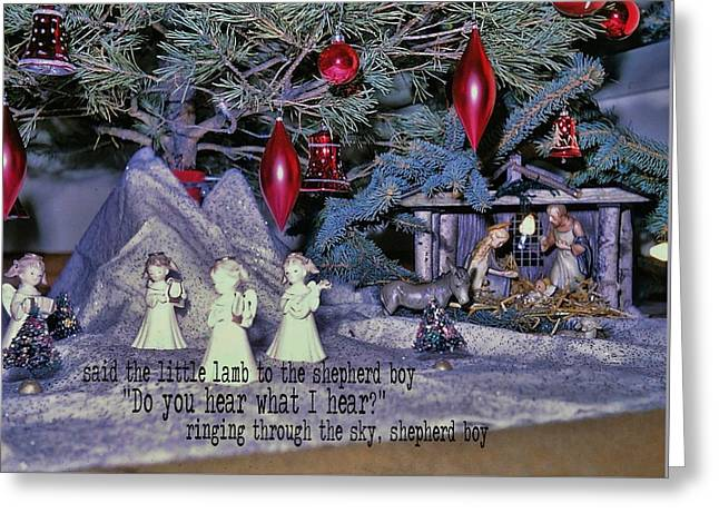 O Holy Night Quote Greeting Card by JAMART Photography