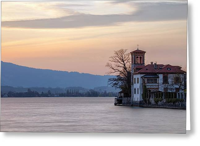 Oberhofen - Switzerland Greeting Card by Joana Kruse