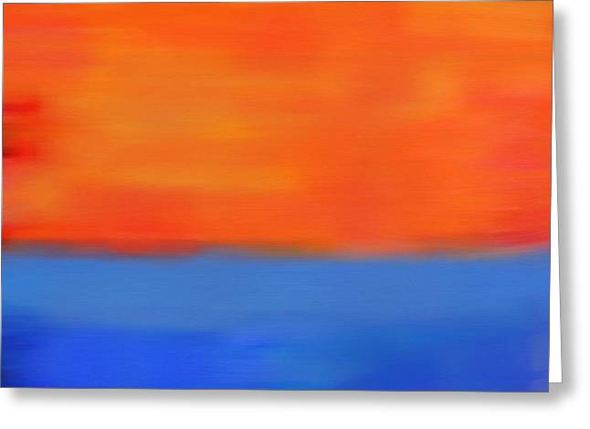 Ocean Sunset Greeting Card by Dan Sproul