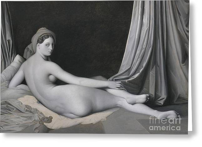 Odalisque In Grisaille Greeting Card