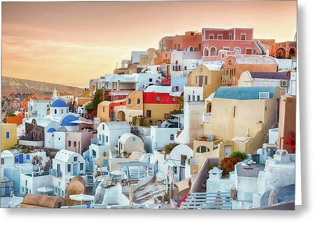 Oia, Santorini - Greece Greeting Card