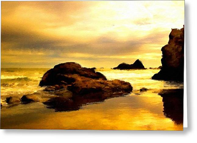 Oil Canvas Landscape Greeting Card by Victoria Landscapes