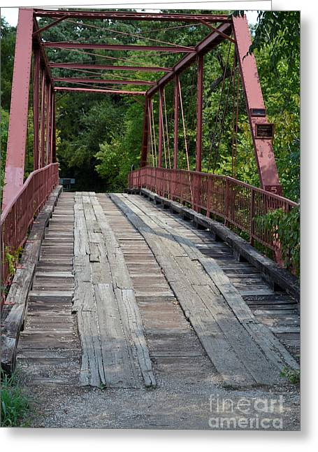Old Alton Bridge  Greeting Card by Ruth  Housley