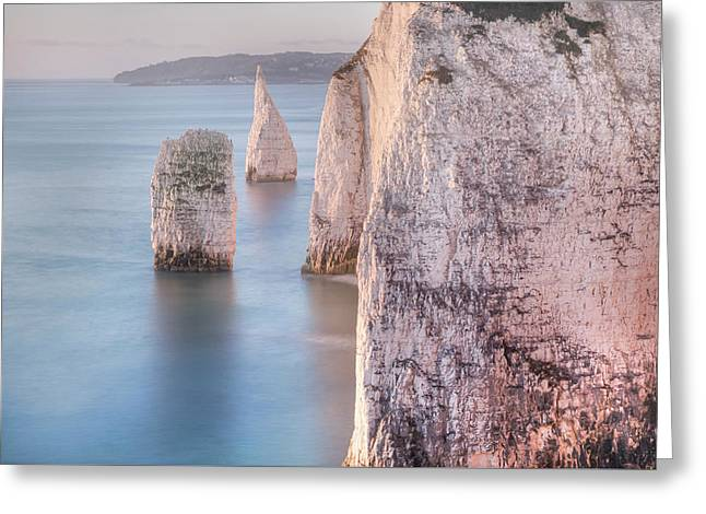 Old Harry Rocks - England Greeting Card by Joana Kruse