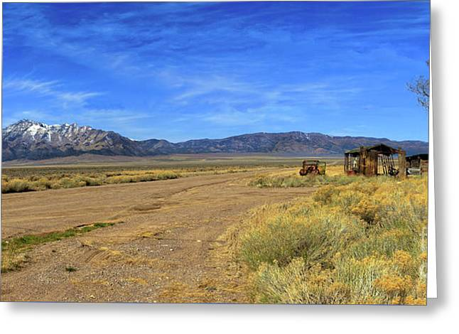 Old Homestead Greeting Card by Robert Bales