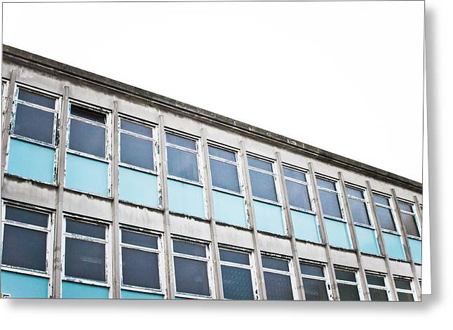 Old Office Building Greeting Card by Tom Gowanlock