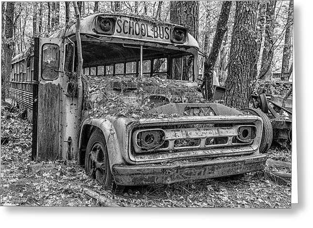 Old School Bus Greeting Card