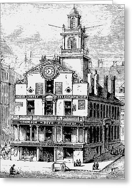 Old State House, Boston Greeting Card by English School
