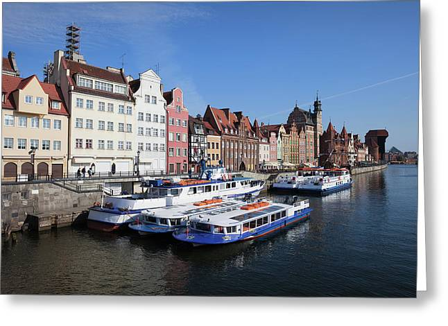Old Town Of Gdansk In Poland Greeting Card by Artur Bogacki