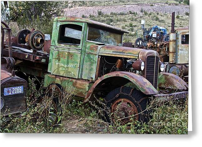 Old Truck Greeting Card by Anthony Jones