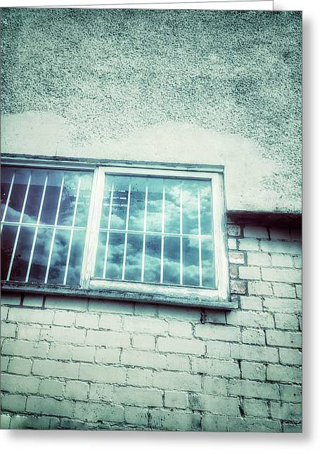 Old Window Bars Greeting Card by Tom Gowanlock