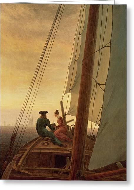 On Board A Sailing Ship Greeting Card