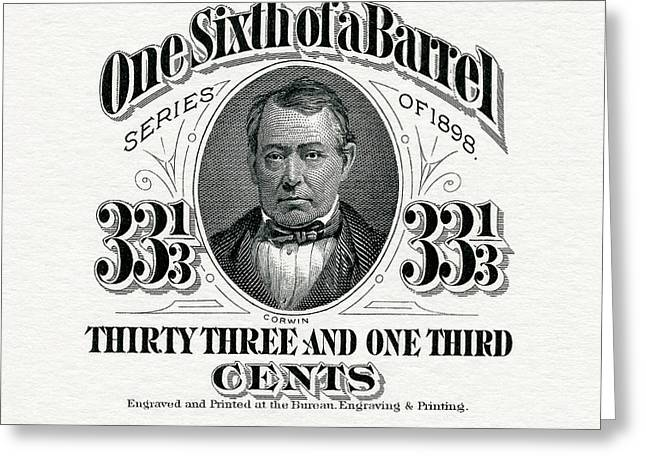 One Sixth Beer Barrel Tax Stamp Greeting Card by Jon Neidert
