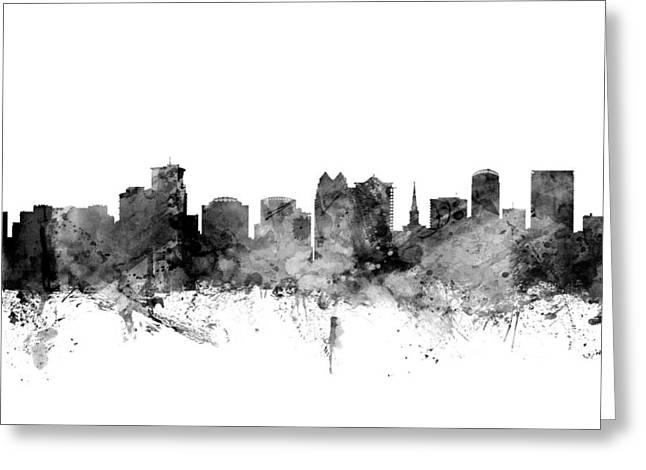 Orlando Florida Skyline Greeting Card by Michael Tompsett