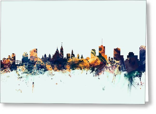 Ottawa Canada Skyline Greeting Card by Michael Tompsett