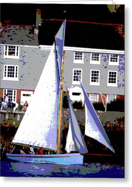 Oyster Boats Greeting Card