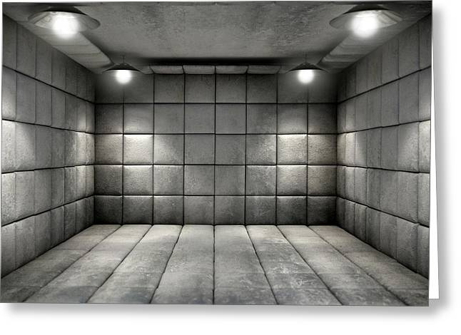 Padded Cell Dirty Greeting Card by Allan Swart