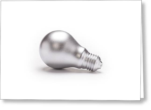 Painted Lightbulb Greeting Card by Jorgen Nilsson