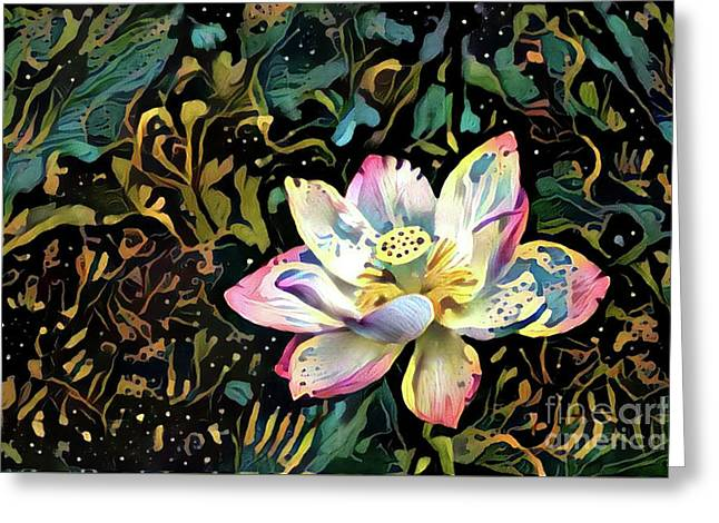 Paisley Waterlily Greeting Card