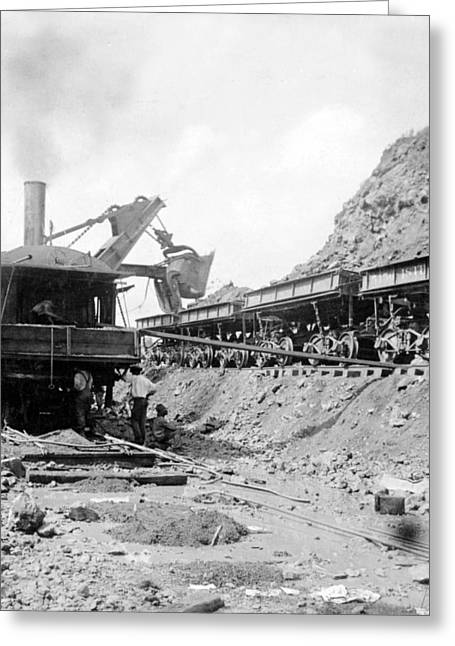 Panama Canal - Construction - C 1910 Greeting Card