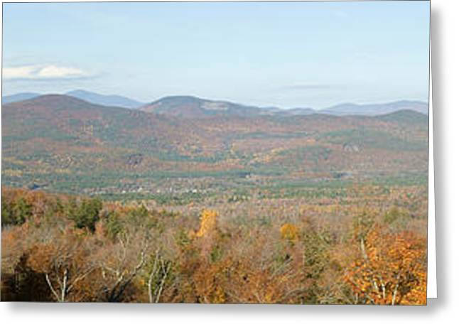 Panoramic View Of Crawford Notch State Greeting Card