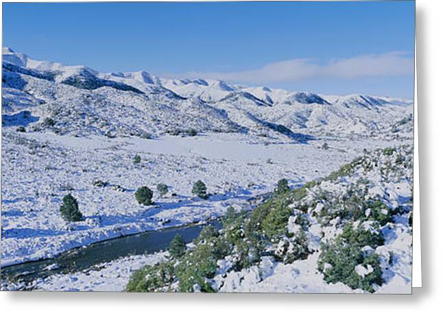 Panoramic View Of Winter Snow Greeting Card