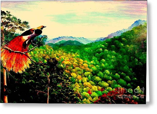 Paradise Bird Of Papua Greeting Card