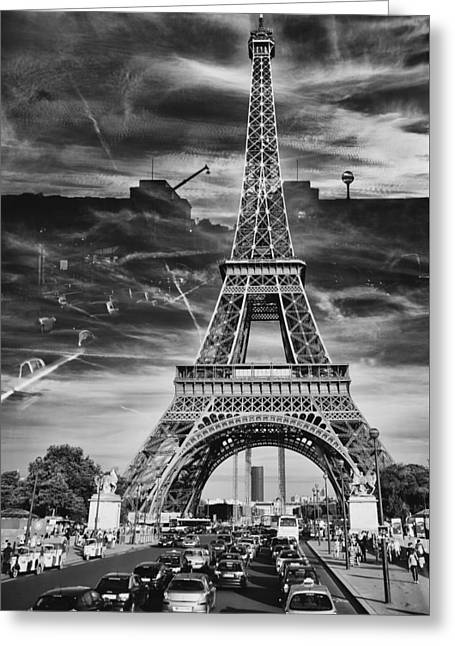 Paris Greeting Card by Hayato Matsumoto