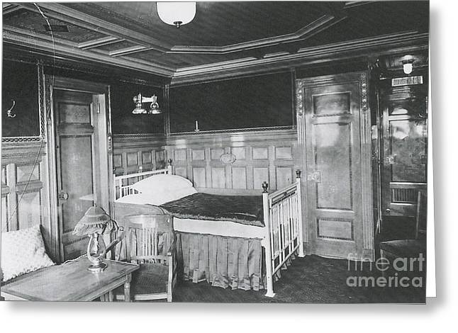 Science Collection - Greeting Cards - Parlour Suite Of Titanic Ship Greeting Card by Photo Researchers