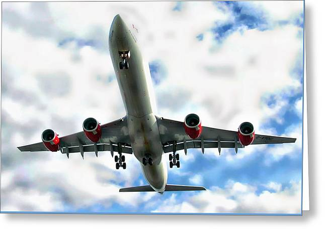 Passenger Plane Greeting Card