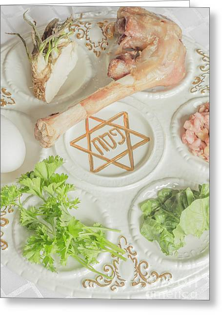 Seder greeting cards page 3 of 3 fine art america passover seder plate greeting card m4hsunfo