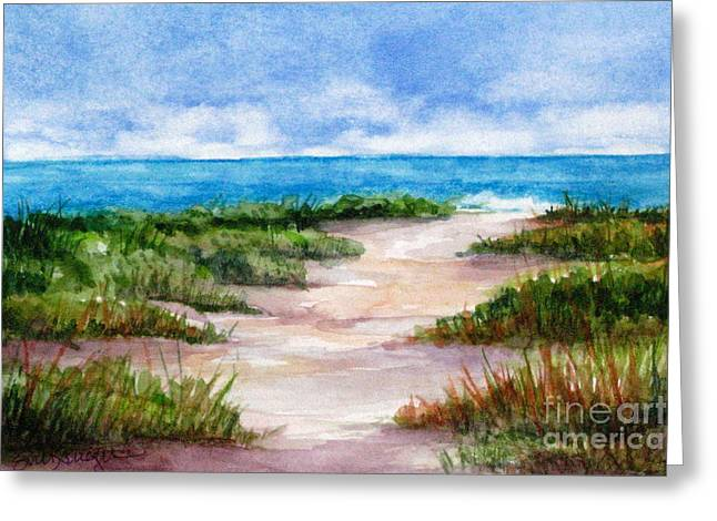 Path To The Beach Greeting Card by Suzanne Krueger
