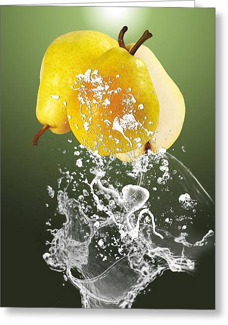 Pear Splash Collection Greeting Card