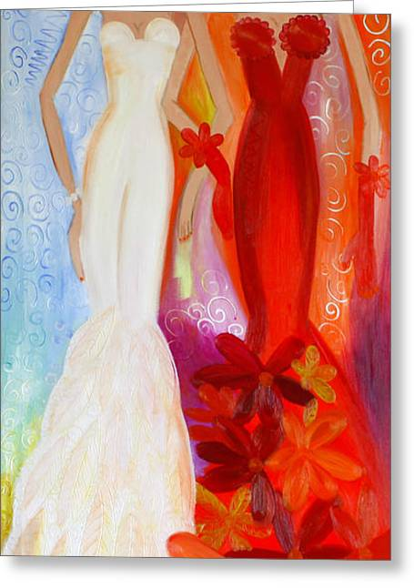 Pearl And June Greeting Card by Helen Gerro