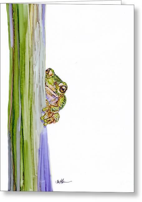 Peek Greeting Card