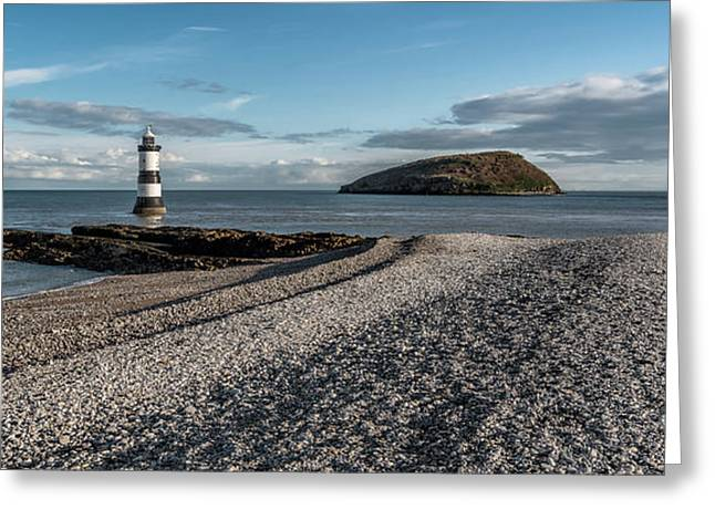 Penmon Point Lighthouse Greeting Card by Adrian Evans