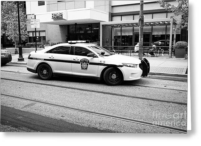 pennsylvania state trooper police cruiser vehicle Philadelphia USA Greeting Card