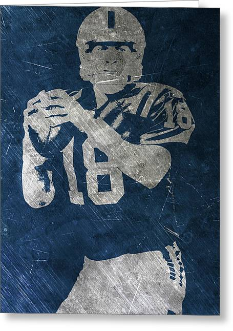 Peyton Manning Colts Greeting Card by Joe Hamilton