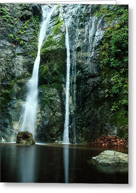 Pfeiffer Falls - Big Sur Greeting Card