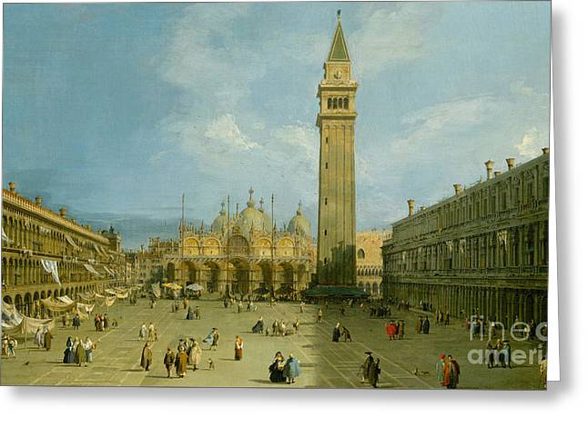 Piazza San Marco Greeting Card by Canaletto