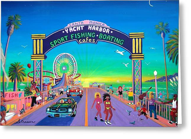 Pier Pleasures Greeting Card by Frank Strasser