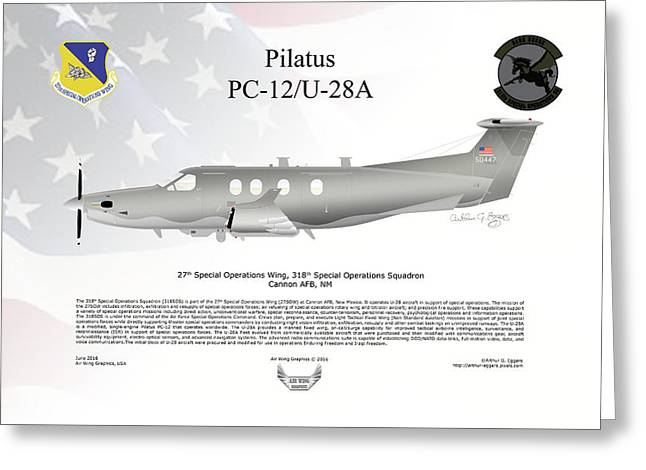 Pilatus Pc-12 U-28a Greeting Card